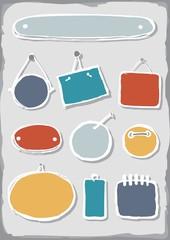 kolorowe puste ramki zestaw elementów