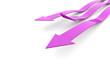 Pink business concept arrows