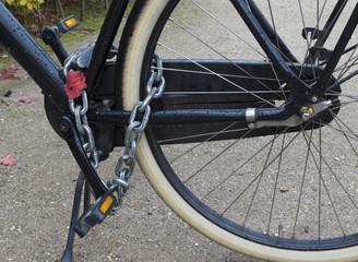 locked bicycle
