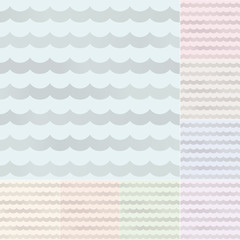 seamless pastel wavy stripes with silvery gradient