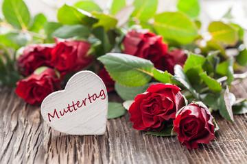 Muttertag Karte mit Rosen