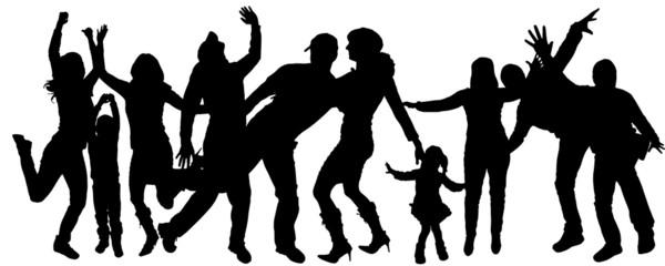 Vector silhouette dance.