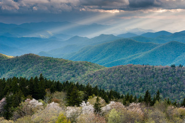 Southern Appalachian Great Smoky Mountain Scenic Landscape