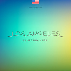World Cities labels - Los Angeles, vector Eps10 illustration.