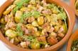 Habas Con Chorizo - Broad beans, chorizo and ham. Spanish Tapas