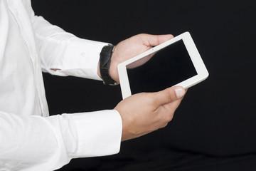 screen of a digital tablet
