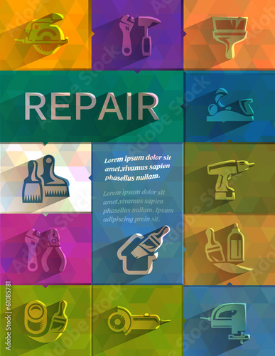 Repair icons. Vector format