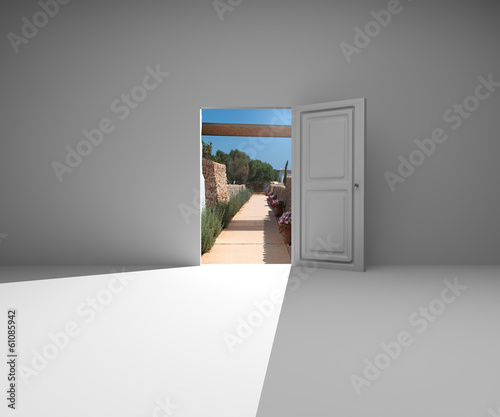 Porta stanza muro chiave successo apertura natura