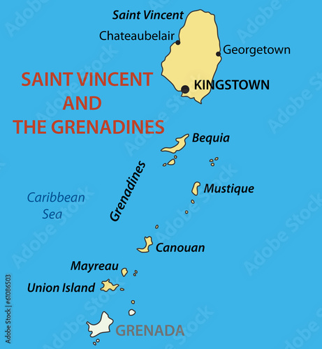 Saint Vincent and the Grenadines - vector map