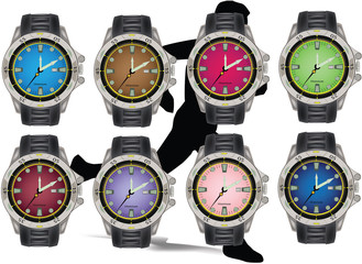 orologio da polso sportivo