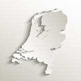 Netherlands Holland map card paper 3D natural vector