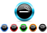 cigarette icon vector set