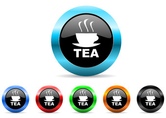 tea icon vector set