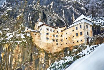 Predjama castle - Predjamski grad in winter, Slovenia