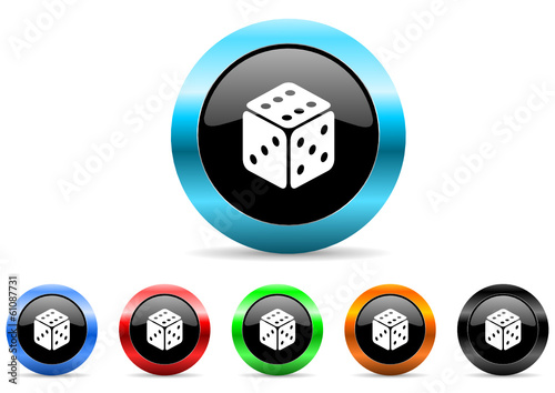 casino icon vector set
