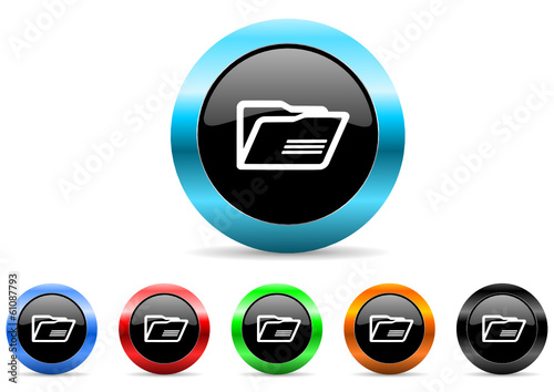 folder icon vector set