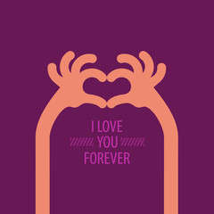 I love you forever. Vector format