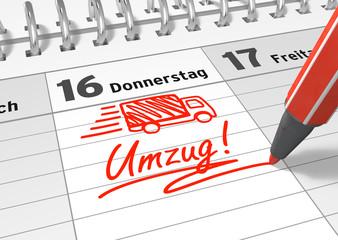 Umzugs-Termin in Kalender einschreiben