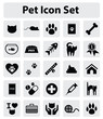 Pet cat icon set