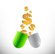 medicine expensive prices concept illustration