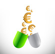 euro prices and medicine concept illustration