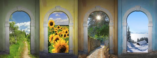 Vier Jahreszeiten -  Collage 2