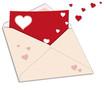 Briefumschlag mit Herzen - Vektor