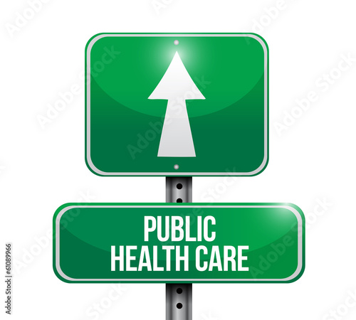 public health care sign illustration design