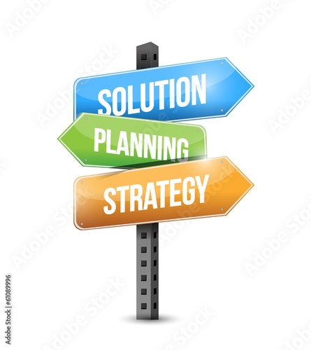 solution, planning and strategy sign illustration