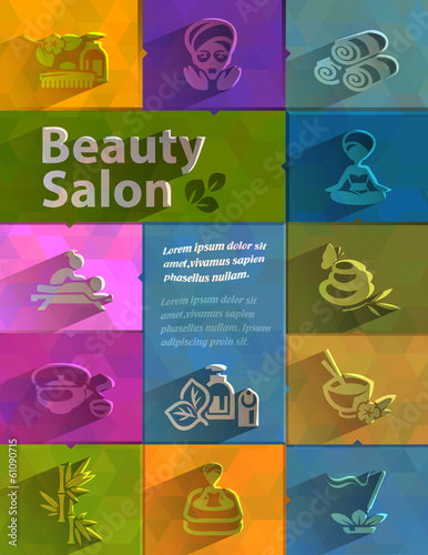 Beauty salon. Vector format