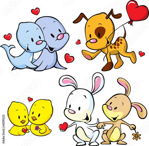 animals celebrate Valentine's Day