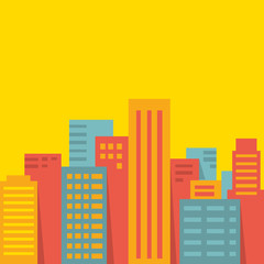 Vector background: big city
