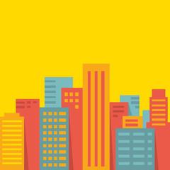 Vector background: big city