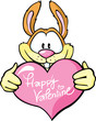 bunny hold valentine heart