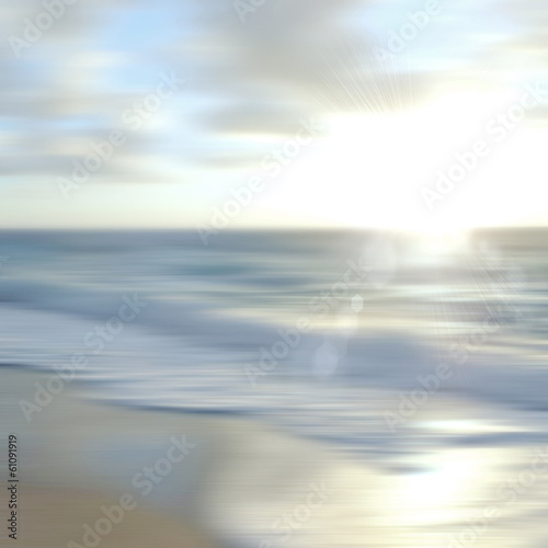 Tropical horizon abstract background