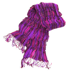 violet scarf isolated on white