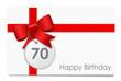 70 Jahre - Happy Birthday