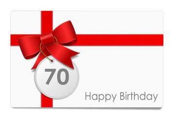 70 Jahre - Happy Birthday