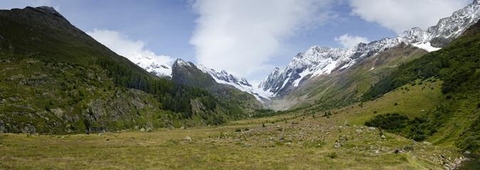 Der Langgletscher im Lötschental in der Schweiz