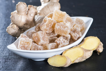 Dried Ginger with Sugar
