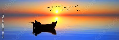 Fotobehang Een Hoekje om te Dromen el pescador de sueños de colores