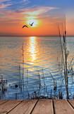 el lago cuando amanece