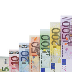 Euro Scheine Diagramm Thema Wachstum und Erfolg