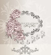 Elegant wedding  invitation card for design