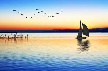navegar por aguas de colores