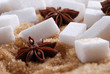 zollette di zucchero con anice stellato