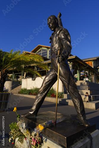 Skulptur von Freddie Mercury in Montreux, Schweiz Poster