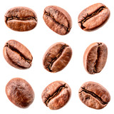 Fototapeta Kawa jest smaczna - Coffee beans isolated on white. Collection © Tim UR