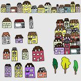 Vector set for your design: houses and real estate