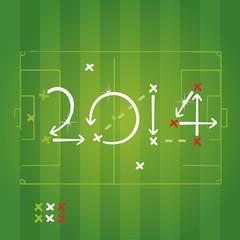 Italian Soccer Strategy plan vector